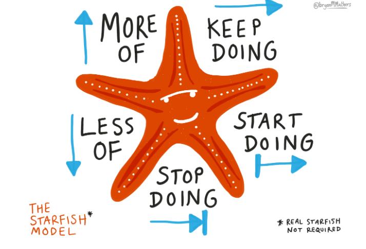 Feedback Starfish model